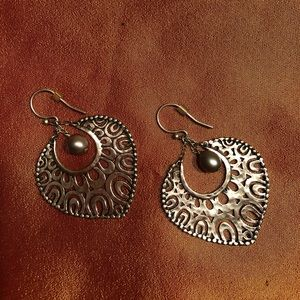 Silpada Teardrop Filigree Vintage Retired earrings